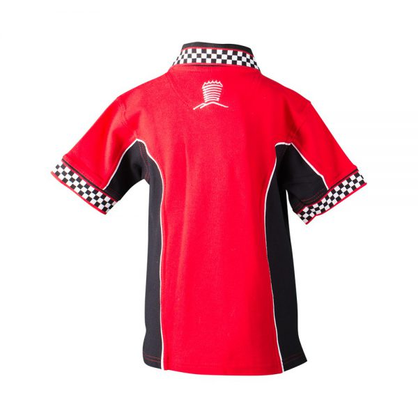 Polo T-Shirt Checkered Red/Black