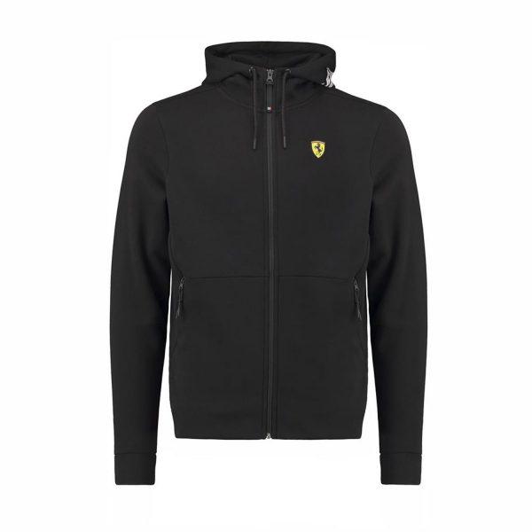 Men's Zip Hoodie Black 2018 Scuderia Ferrari