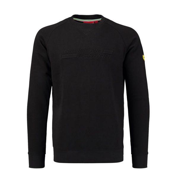Men's Crew Neck Jumper Black 2018 Scuderia Ferrari