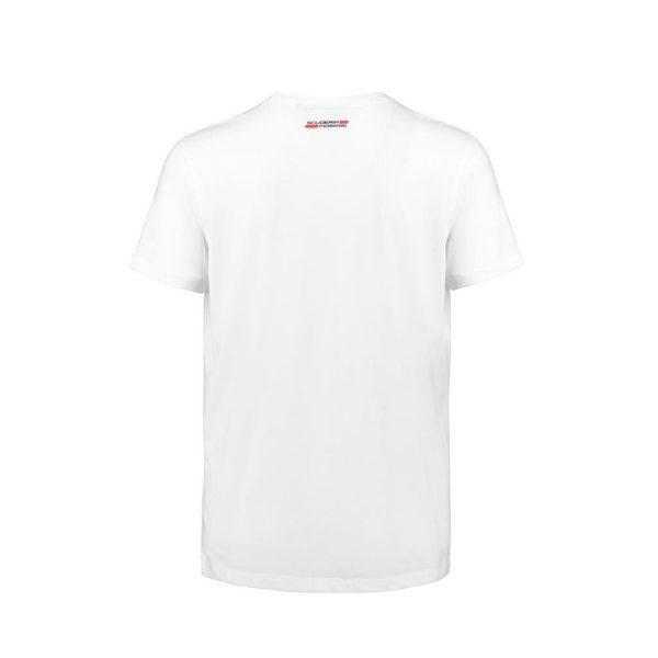 Men's Car Graphic T-Shirt White 2018 Scuderia Ferrari