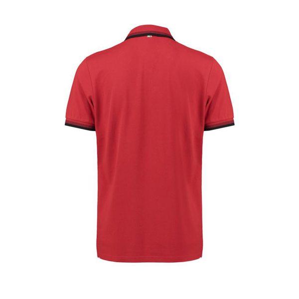 Men's Contrast Collar Polo Shirt Red 2018 Scuderia Ferrari