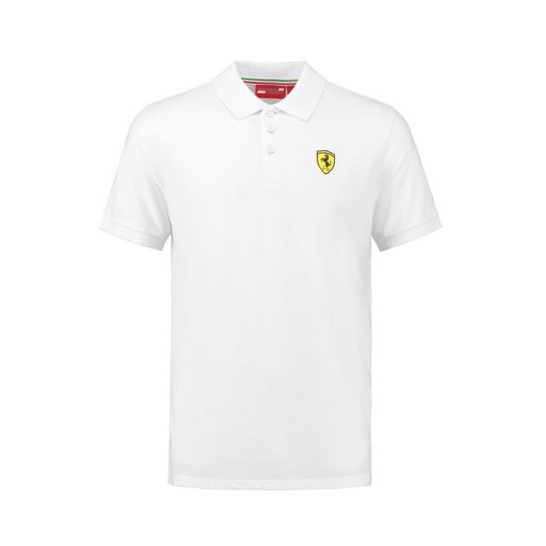 Men's Classic Polo Shirt White 2018 Scuderia Ferrari