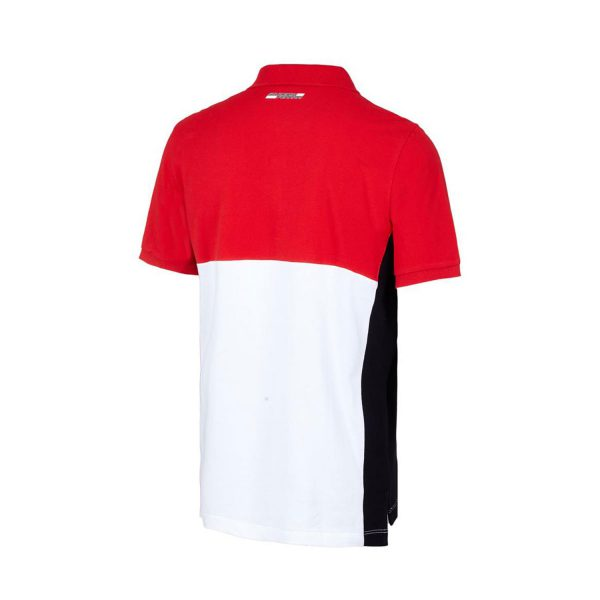 Men's Contrast Polo Shirt Red 2018 Scuderia Ferrari