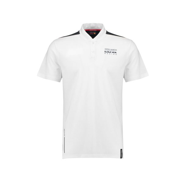 2018 Aston Martin Red Bull Racing Formula 1 Mens Seasonal Polo Shirt White