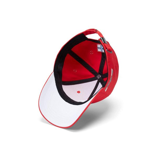 Ferrari Official 2018 Kimi Raikkonen 7 Red Baseball Cap Hat Adult