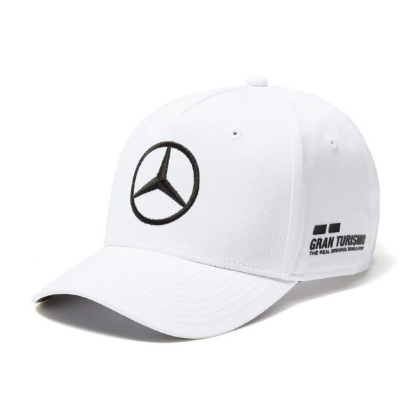 2018 F1 Lewis Hamilton Drivers Cap (WHITE) Adult One Size Mercedes-AMG Formula 1